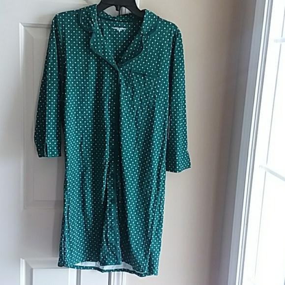 1d301154ab NWT Laura Scott Button Down Nightgown Night Shirt